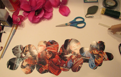 Paper rose crafting with Star Wars comics
